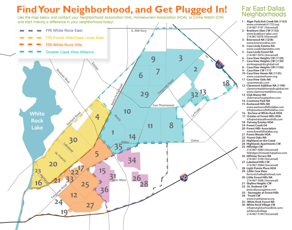 FRI Neighborhood Map